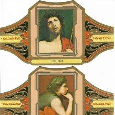 Vitolas de colección: ALVARO - SERIE II CUADROS DE PINTORES ESPAÑOLES (RIBERA) - SERIE COMPLETA 12 VITOLAS GRANDES. Lote 159569454