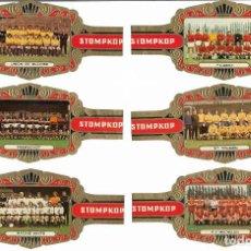 Vitolas de colección: STOMPKOP - EQUIPOS DE FUTBOL BELGAS - SERIE COMPLETA 16 VITOLAS GRANDES. Lote 160293982