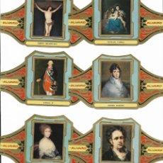 Vitolas de colección: ALVARO - SERIE CUADROS DE PINTORES ESPAÑOLES (GOYA) - SERIE COMPLETA 12 VITOLAS GRANDES. Lote 160300518