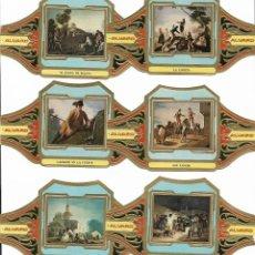 Vitolas de colección: ALVARO - SERIE CUADROS DE PINTORES ESPAÑOLES S II (GOYA) - SERIE COMPLETA 12 VITOLAS GRANDES. Lote 160300674