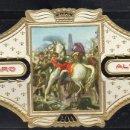 Vitolas de colección: ALVARO, NAPOLEON, Nº 19, NAPOLEON HERIDO AL PIE SOBRE RATISBONA. Lote 160577570