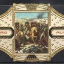 Vitolas de colección: ALVARO, NAPOLEON, Nº 21, NAPOLEON EN EL CAMPO DE BATALLA DE EYLAU. Lote 160577882