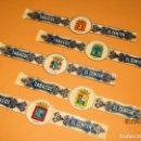 Vitolas de colección: ANTIGUAS VITOLAS TABACOS EL CENTÉN (CANARIAS). ESCUDOS DE 5 ISLAS CANARIAS.. Lote 160598510