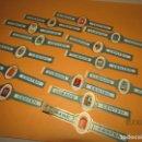 Vitolas de colección: ANTIGUAS 14 VITOLAS TABACOS CUBANO EL CENTÉN (CANARIAS). ESCUDOS CAPITALES ESPAÑOLAS.. Lote 160607450