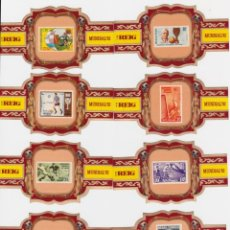 Vitolas de colección: REIG, COMPAÑIA CANARIENSE - SERIE CAMPEONATOS MUNDIALES DE FUTBOL (S I) - SERIE COMPLETA 25 VITOLAS. Lote 161135234