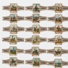 Vitolas de colección: RITMEESTER - SERIE A CABALLERIA INGLESA - SERIE COMPLETA 24 VITOLAS. Lote 161142338