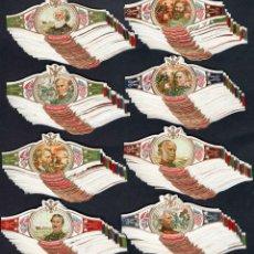 Vitolas de colección: SERIE DE VITOLAS COMPLETA (144 UNIDADES) FORMATO CLÁSICO.GENERALES GUERRA CIVÍL U.S.A.. Lote 166512693