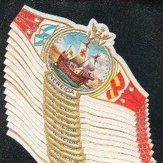 Vitolas de colección: NEREIDA. SERIE DE VITOLAS COMPLETA (25 UNIDADES) EN FORMATO CLÁSICO. BARCOS VELEROS.. Lote 167788716