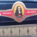 Vitolas de colección: VITOLA CLÁSICA WILLEM II. SERIE PERSONAJES. CIGAR BAND SIGAAR ETIKET. Lote 168395504