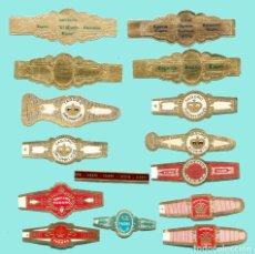 Anéis de charuto de coleção: 15 VITOLAS CANARIAS ANTIGUAS - MARCA TAGORO. Lote 170365168
