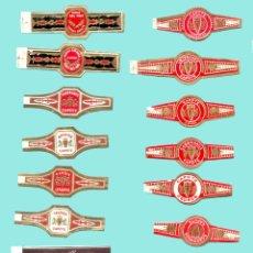 Anéis de charuto de coleção: 18 VITOLAS CANARIAS ANTIGUAS - MARCA CAPOTE. Lote 170371232