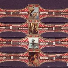 Vitolas de colección: VICTOR HUGO, ITALIA, ROJO, 12 VITOLAS, SERIE COMPLETA.. Lote 171676624