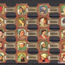 Vitolas de colección: BREUGHEL, FRAGMENTOS DE BREUGHEL, BORDE ROJO, 20 VITOLAS, SERIE COMPLETA.. Lote 172393542