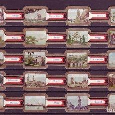 Vitolas de colección: CARAIBE, VISTAS DE BELGICA, 20 VITOLAS, SERIE COMPLETA.. Lote 172753019