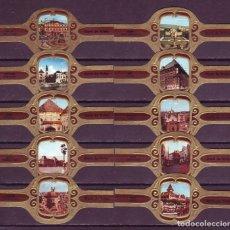 Vitolas de colección: DERK DE VRIES, TURISMO, SERIE 293, 10 VITOLAS, SERIE COMPLETA.. Lote 172993245