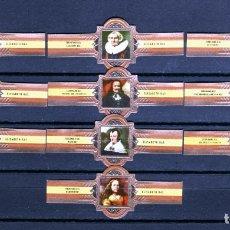 Vitolas de colección: ELISABETH BAS, FERDINAND BOL, FRAGMENTOS, NARANJA, 10 VITOLAS, SERIE COMPLETA.. Lote 173385940