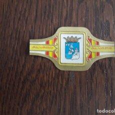 Anéis de charuto de coleção: VITOLA DE PURO, SERIE ESCUDOS PROVINCIAS ESPAÑA, TABACOS ALVARO, SANTANDER, Nº 42. Lote 173885813