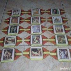 Vitolas de colección: VITOLAS ALVARO EL DESNUDO EN EL ARTE SERIE 1 PINTURA COLECCION 15\16 VITOLAS. Lote 174272835