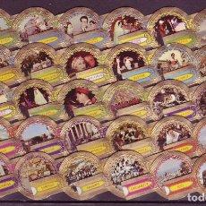Vitolas de colección: LUGANO, TURISMO, SERIE 7, 30 VITOLAS, SERIE COMPLETA.. Lote 174302250