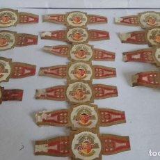 Vitolas de colección: LOTE DE 15 VITOLAS DE PUROS / MARCA ALVARO / 3 TAMAÑOS DISTINTOS. Lote 175758634