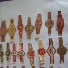 Vitolas de colección: LOTE DE 23 VITOLAS DE PUROS / VARIAS MARCAS. Lote 175759974