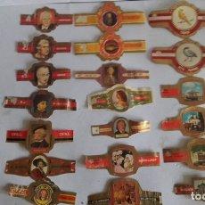Vitolas de colección: LOTE DE 20 VITOLAS DE PUROS / DIFERENTES MARCAS. Lote 175760379