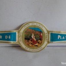 Vitolas de colección: VITOLA DE PUROS / FLOR DE PLATA. Lote 175762319