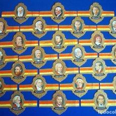 Vitolas de colección: TABACOS CAPOTE, PERSONAJES, SERIE G, 24 VITOLAS, SERIE COMPLETA.. Lote 176557815