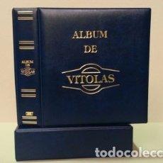 Vitolas de colección: ALBUM BBB* PARA VITOLAS. MAMUT. 4 ANILLAS. AZUL. CON CAJETÍN.. Lote 176570404