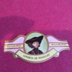 Vitolas de colección: VITOLA PUROS ALVARO. Lote 177678227