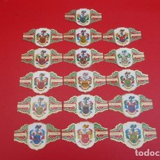 Vitolas de colección: LOTE DE VIEJAS VITOLAS DE PUROS...19 ..HERALDICA.. Lote 178122180
