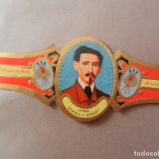 Vitolas de colección: VITOLA DE PURO ALVARO SERIE PINTORES JAIME SERRA Y GILBERT. . Lote 178151079