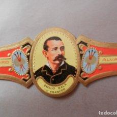 Vitolas de colección: VITOLA DE PURO ALVARO SERIE PINTORES EMILIO SALA Y FRÁNCES.. Lote 178151112