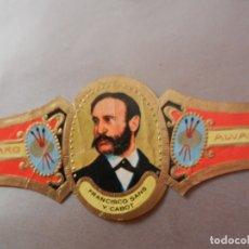 Vitolas de colección: VITOLA DE PURO ALVARO SERIE PINTORES FRANCISCO SANS Y CABOT. . Lote 178151140