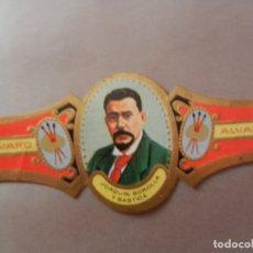 Vitolas de colección: VITOLA DE PURO ALVARO SERIE PINTORES JOAQUÍN SOROLLA Y BASTIDA. . Lote 178151202