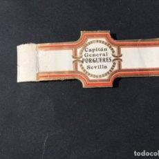Vitolas de colección: VITOLA CLASICA • CAPITAN GENERAL PORGUERES •. LA DE LA FOTO VER TODOS MIS LOTES. Lote 179003182