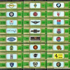 Vitolas de colección: KAREL I, MARCAS DE AUTOMOVILES, VERDE, 24 VITOLAS, SERIE COMPLETA.. Lote 179188098