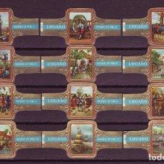 Vitolas de colección: LUGANO, ALMIRANTE DE RUYTER, SERIE 17, 12 VITOLAS, SERIE COMPLETA.. Lote 179188721