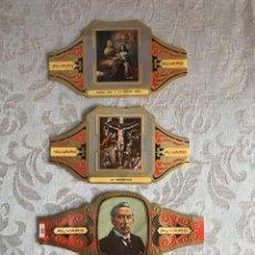 Vitolas de colección: 3 VITOLAS DE PUROS ALVARO (+ REGALO DE 2 ETIQUETAS DE PURO SCHIMMELPENNINCK Y DON JULIÁN). Lote 180182555
