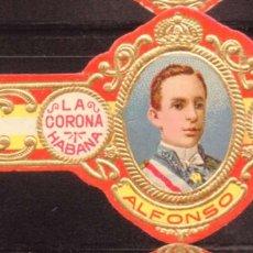 Vitolas de colección: VITOLA CLASICA: RES017, CASA REAL ESPAÑOLA, ALFONSO XIII, LA CORONA, CUBA. Lote 180223431