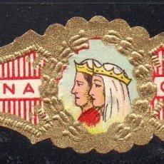 Vitolas de colección: VITOLA CLASICA: RES044, CASA REAL ESPAÑOLA, REYES CATOLICOS, CORONA. Lote 180341728