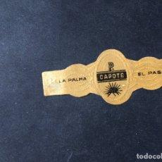 Vitolas de colección: VITOLA CLASICA • CAPOTE EL PASO •. LA DE LA FOTO VER TODOS MIS LOTES DE VITOLAS. Lote 180444847