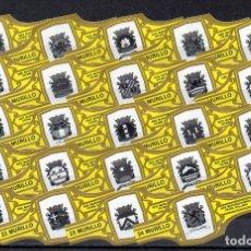 Vitolas de colección: MURILLO, EMBLEMAS DE LA MARINA HOLANDESA, AMARILLO, 24 VITOLAS, SERIE COMPLETA.. Lote 180850568