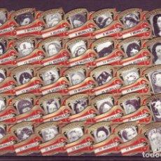 Vitolas de colección: MURILLO, ESCRITORAS Y POETISAS, ROJO, 35 VITOLAS, SERIE COMPLETA.. Lote 180850693