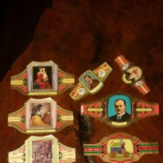Vitolas de colección: LOTE DE VITOLAS ALVARO PINTORES PREMIOS NOBEL ESCULTORES Y UNA RICA HOJA. Lote 181418785