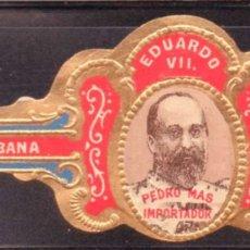 Vitolas de colección: VITOLA CLASICA: RIN020, CASA REAL INGLESA, EDUARDO VII, CALIXTO LOPEZ, CUBA. Lote 181571001
