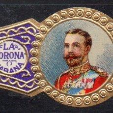 Vitolas de colección: VITOLA CLASICA: RIN040, CASA REAL INGLESA, JORGE V, LA CORONA, CUBA. Lote 181718855