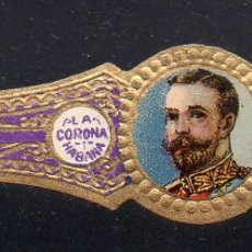 Vitolas de colección: VITOLA CLASICA: RIN041, CASA REAL INGLESA, JORGE V, LA CORONA, CUBA, PEQUEÑA. Lote 181718931