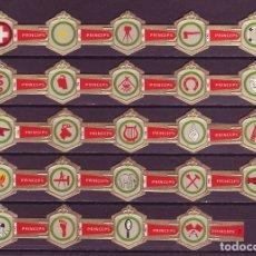 Vitolas de colección: PRINCEPS, INSIGNIAS, 24 VITOLAS, SERIE COMPLETA.. Lote 181987367
