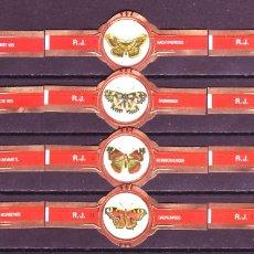 Vitolas de colección: ROKENDE JAN, MARIPOSAS, 12 VITOLAS, SERIE COMPLETA.. Lote 182064275